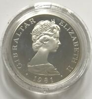 1981 Gibraltar Royal Wedding - 1 Crown Silver Proof In Original Display   #1360