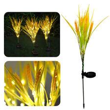 Solar Powered LED Wheat Ear Flower Lights Garden Stake Lamps Yard Outdoor Decor