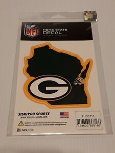 Official Green Bay Packers NFL Home State Auto Sticker Window Vinyl Decal