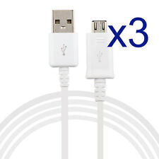 3x Micro USB Charger Charging Cable Cord For Samsung Galaxy Huawei LG