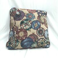 Tapestry Throw Pillow Circle Ornaments 16 x 16 Square Christmas Holiday