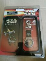 NIP New 2006 Star Wars Episode 1 Space Battle Rotating Starfighter Disk Watch