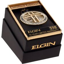 Brand New Crucified Elgin® Mens Automatic Skeleton Pocket Watch FG1610013PW