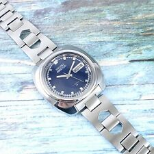 Vintage Seiko 5 Actus 21 Jewels Automatic. Waterproof 7019-7010. Cushion Case