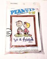 Peanuts Crewel Stitchery Kit Linus And Sally Be A Friend 8110-006 Vintage Crafts