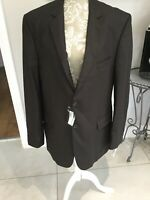 "BNWT Mens Wool Italian Sergio Tacchini Suit Jacket Brown Size 58 - UK 44"" chest"