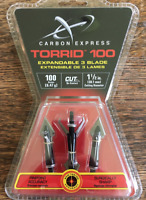Carbon Express Torrid 100 Grain Broadheads New In Packaging  BLOWOUT SALE