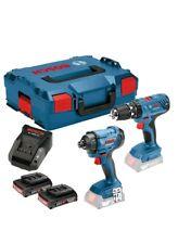 Bosch GSB 18 V-21 & GDR 18 V-160  2 x 2.0Ah in L-BOXX - 06019G5172