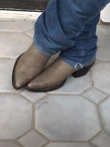 Vintage Nocona Tall Heel  Leather Cowboy Boots 10.5