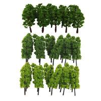 40pcs Bäume Modellbahn Eisenbahn Grünland Landschaft Gebäude Layout 1:150