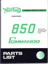 Original, OEM, Norton Commando 850 Mk I, Mk II Factory Parts Manual, Brown Wrap