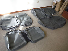 TOYOTA PRIUS C HATCHBACK GRAY CLOTH SEATS UPHOLSTERY KIT SET   #13