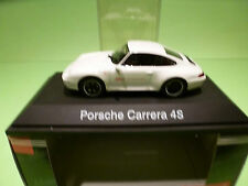 SCHUCO 04153 PORSCHE CARRERA 4S - 1:43 - WHITE - MINT IN BOX