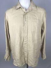 J Crew Mens Linen Button Down Long Sleeve Shirt Size L Large