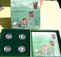 1996 Canada Silver Little Wild Ones 4 Coin 50c Proof Set RCM w/Box & COA K36