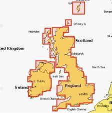 Navionics + petit 5G576S2 UK & IRELAND eaux intérieures sur carte Compact Flash