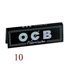Cigarette rolling papers OCB BLACK Premium No. 1 (10 packs of 50 sheets