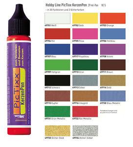 29ml (7,59 €/100 ml) Kerzenstift, Tic Pixx KerzenPen, Kerzenfarbe, Kerzenstifte