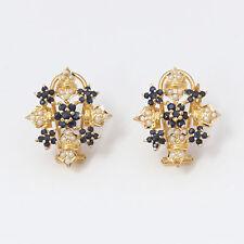 Nyjewel BRANDNEU 22k gelb gold Bollywood Indien Style Spinelle Perlenohrring