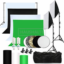 Softbox Hintergründe Fotostudio Set Studioleuchte Lampe Fotowand Faltreflektor