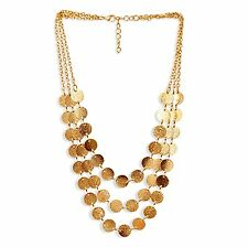 Women's Vintage COIN PENDANT NECKLACE Gold Plated Modern Wear Fashion Jewelry