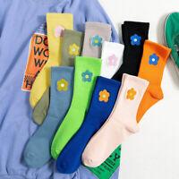 Women Embroidered Socks Flower Pattern Series Ladies Socks Autumn Winter Socks