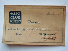 SKI CLUB VENETO vecchia tessera socio sci montagna