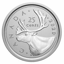 2020 Canada 25 cent coin Caribou logo --- Specimen finish -- coin only: from set