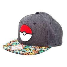 Cappelli da uomo visiera grigio in poliestere