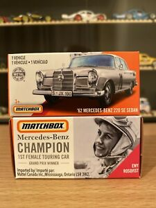 2x Matchbox Power Grab Box '62 Mercedes Benz 220 Se Sedan Ewy Rosqvist in Box