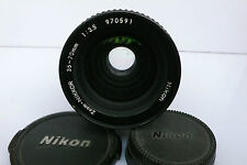 Nikon Zoom-Nikkor 35-70mm f3.5 Constant Macro Manual AIs Lens Caps Rare & Big