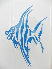 Peces animales Baño stickers/car/van / bumper/window/decal 5230 Azul