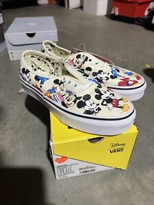 Vans x Disney Mickey Mouse 90th Birthday Shoes US Men's Size 3.5