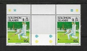 1991 Solomon Islands - Bowls - Gutter Pair With Inscriptions - Unmounted Mint.