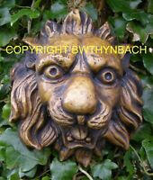 NEW RUBBER LATEX MOULD MOLD MOULDS TO MAKE GARDEN LION HEAD WALL PLAQUE