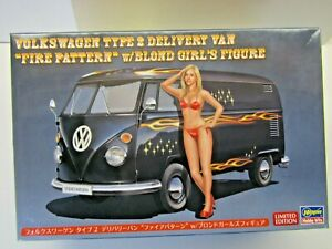 "Hasegawa 1:24 Scale Volkswagen Type 2 Delivery Van ""Fire Pattern"" Model Kit"