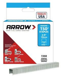 "1250 Arrow Genuine T50 Staples Heavy Duty Stapler Gun Tacker Clip DIY 3/8"" 10mm"