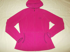 THE NORTH FACE FULL ZIP DARK PINK HOODED FLEECE JACKET WOMENS SMALL