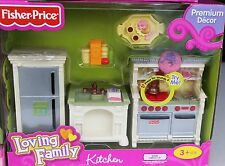 New Fisher Price Loving Family Kitchen Fridge Stove Dishwasher Sink Cook Top Fre