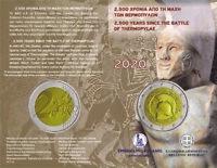Coincard 2 Euro Griechenland 2020 Leonidas 2.500 J Schlacht der Thermopylen