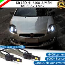 KIT FULL LED FIAT BRAVO MK2 LAMPADE LED H1 6000K BIANCO GHIACCIO NO ERROR
