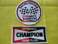 "Champion Racing Division And Champion Spark Plug  2 Patches 3 1/2""-4 1/8X2"""