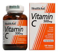 Health Aid Vitamina C - 100 tabletas masticables 500MG