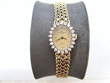 VINTAGE 14K solid YELLOW GOLD LADIES BAUME & MERCIER 0.50 ct DIAMOND WATCH