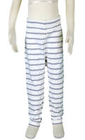 JACADI Girls Lerote White And Grey Striped Leggings Size 8 Years NWT $44