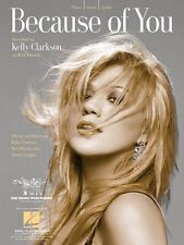 Because of You Sheet Music Piano Vocal Kelly Clarkson NEW 000352994