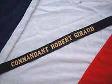 RUBAN LEGENDE MARINE : COMMANDANT ROBERT GIRAUD