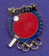 Kodak Photographic Film Cut-Out Olympic Rings Media Pin - Table Tennis Ping Pong