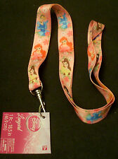 Lot of 2 Disney Pin key ID Trading Lanyards Snow White Tiana Ariel Princess
