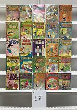 Vintage Harvey Richie Rich Harvey 25 Lot Comic Book Comics Set Run Collection